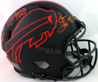 Jim Kelly, Thurman Thomas & Andre Reed Signed Bills Eclipse Alternate Speed Authentic On-Field Full-Size Helmet with (3) HOF Inscriptions (JSA COA) at PristineAuction.com