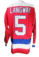 "Rod Langway Signed Jersey Inscribed ""HOF 02"" (JSA COA) at PristineAuction.com"