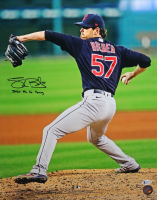 """Shane Bieber Signed Indians 16x20 Photo inscribed """"2020 AL Cy Young"""" (Beckett COA) at PristineAuction.com"""