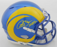 "Isaac Bruce Signed Rams Speed Mini Helmet Inscribed ""HOF 20"" (Beckett COA) at PristineAuction.com"