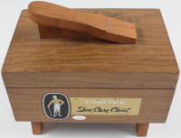 "Henry Hill Signed Handheld Wood Shoe Shine Box Inscribed ""Go Get Your Shine Box, Tony"" & ""Goodfella"" (JSA COA) at PristineAuction.com"