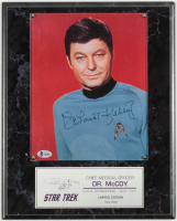 DeForest Kelley Signed Star Trek 12x15 Custom Plaque Display (Beckett Hologram) (See Description) at PristineAuction.com