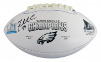 Fletcher Cox Signed Eagles Logo Football (JSA COA) at PristineAuction.com