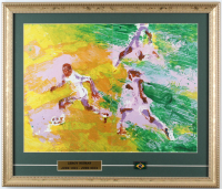 "LeRoy Neiman ""Pele"" 21.25x18 Custom Framed Print Display With Team Brazil Pin (See Description) at PristineAuction.com"