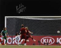 Kelley O'Hara Signed Team USA 2015 FIFA World Cup 16x20 Photo (Steiner Hologram) at PristineAuction.com