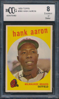 Hank Aaron 1959 Topps #380 (BCCG 8) at PristineAuction.com