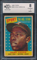 Hank Aaron 1958 Topps #488 All-Star (BCCG 8) at PristineAuction.com
