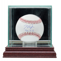"""Mike Trout Signed OML Baseball with Display Case Inscribed """"The Kid"""" (MLB Hologram) at PristineAuction.com"""