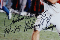 "Christian Peter Signed Nebraska Cornhuskers 16x20 Photo Inscribed ""94-95 National Champs"" (JSA COA) at PristineAuction.com"