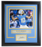 Justin Herbert Chargers 16x19 Custom Framed Photo Display at PristineAuction.com