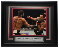 "Max ""Blessed"" Holloway Signed UFC 11x14 Custom Framed Photo Display (Beckett COA) at PristineAuction.com"