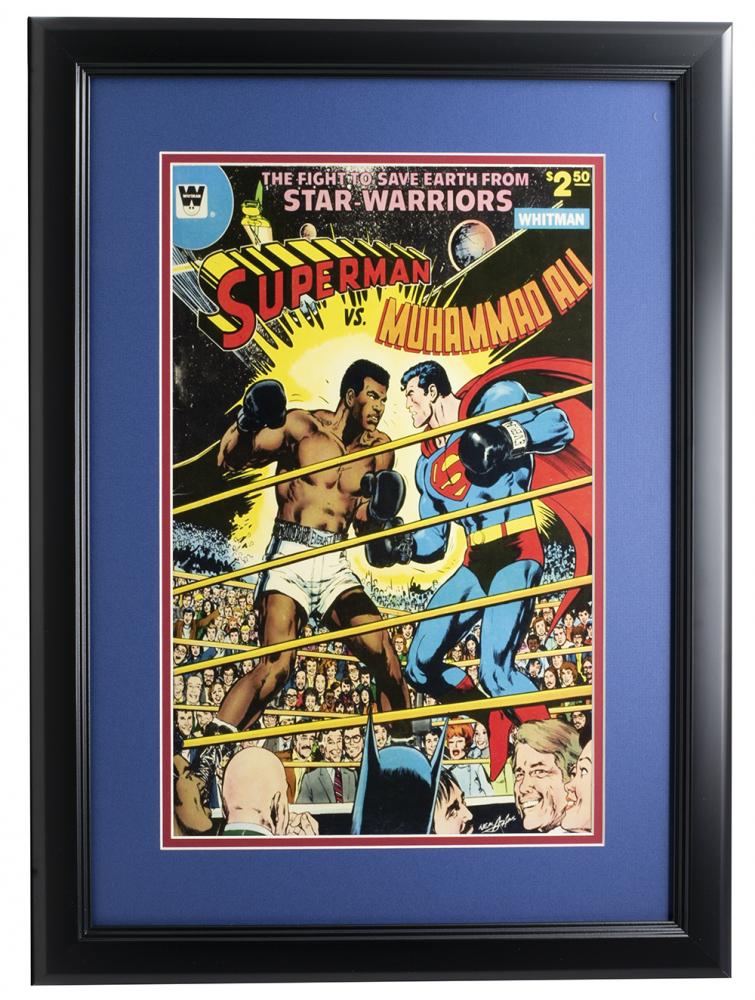 """Superman vs. Muhammad Ali"" 11x17 Custom Framed Photo at PristineAuction.com"