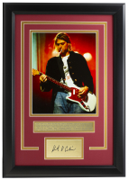 "Kurt Cobain ""Nirvana"" 16x19 Custom Framed Photo Display at PristineAuction.com"