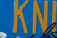 "David Hasselhoff & William Daniels Signed ""Knight Rider"" 6x12 License Plate Inscribed ""Kitt"" (Beckett COA & JSA COA) (See Description) at PristineAuction.com"