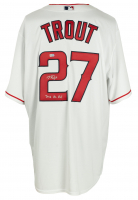 "Mike Trout Signed Angels Majestic Jersey Inscribed ""2012 AL ROY"" (MLB Hologram) at PristineAuction.com"
