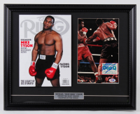 Mike Tyson Signed 16x20 Custom Framed Photo Display With 2020 Ring Magazine (PSA COA) at PristineAuction.com