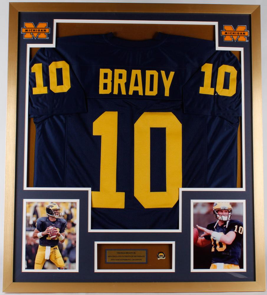 Tom Brady 32x36 Custom Framed Jersey Display with Michigan ...