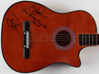 """Jack Russell & Tony Montana Signed Great White 38"""" Acoustic Guitar Inscribed """"Once Bitten Twice Shy"""" (JSA COA) at PristineAuction.com"""