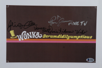 """Julie Dawn Cole, Denise Nickerson & Paris Themmen Signed """"Willy Wonka & the Chocolate Factory"""" 9x12.5 Print Inscribed """"Veruca Salt"""" """"Mike TV"""" & """"Violet"""" (Beckett LOA) at PristineAuction.com"""