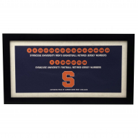 Syracuse Orange University Carrier Dome Roof 10x20 Custom Framed Retired Numbers Collage Display at PristineAuction.com