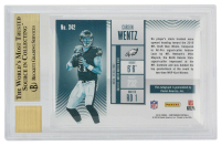 Carson Wentz 2016 Panini Contenders Cracked Ice #342 Autograph #14/24 (BGS 9.5) at PristineAuction.com