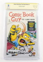 "Matt Groening Signed LE 2010 ""Comic Book Guy"" Issue #1 Bongo Comic Book with Sketch Inscribed ""2010"" (CBCS Encapsulated) at PristineAuction.com"