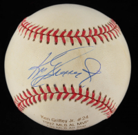 Ken Griffey Jr. Signed LE OAL Career Stat Engraved Baseball (JSA COA & Steiner Hologram) (See Description) at PristineAuction.com