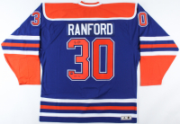 "Bill Ranford Signed Oilers Jersey Inscribed ""1990 Cup"" (COJO COA) at PristineAuction.com"