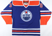 """Bill Ranford Signed Oilers Jersey Inscribed """"1990 Cup"""" (COJO COA) at PristineAuction.com"""