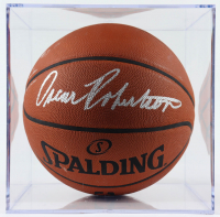 Oscar Robertson Signed Official NBA Game Ball Basketball with Display Case (TriStar Hologram) at PristineAuction.com