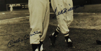 Mickey Mantle & Ted Williams Signed 16x20 Custom Framed Photo Display (UDA COA) at PristineAuction.com