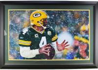 Brett Favre Signed Packers 32x44 Custom Framed Photo Display (Radtke COA) at PristineAuction.com