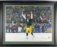 Brett Favre Signed Packers 37x44 Custom Framed Photo Display (Radtke COA) at PristineAuction.com