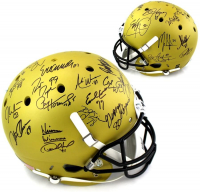 Heisman Winners Full-Size Helmet Signed by (24) with Eric Crouch, Jason White, Ron Dayn, Johnny Rogers (Steiner COA) at PristineAuction.com