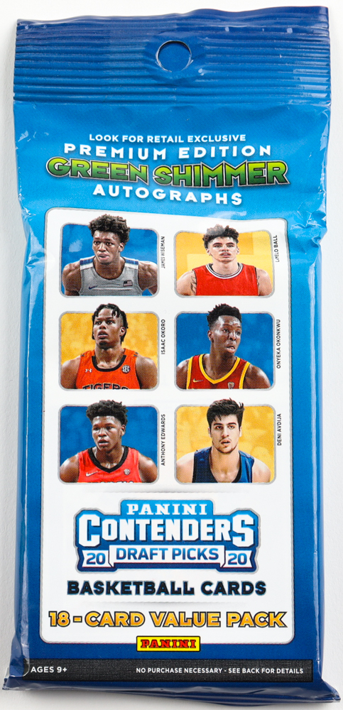 2020-21 Panini Contenders Draft Picks Basketball Cello Pack with (18) Cards at PristineAuction.com