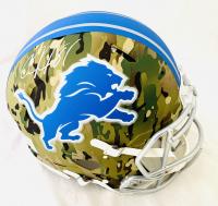 Calvin Johnson Signed Lions Full-Size Authentic On-Field Camo Alternate Speed Helmet (JSA COA) at PristineAuction.com