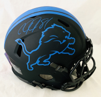 Calvin Johnson Signed Lions Full-Size Authentic On-Field Eclipse Alternate Speed Helmet (JSA COA) at PristineAuction.com