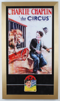 "Charlie Chaplin ""The Circus"" 15x26 Custom Framed Print Display with 8mm Film Reel at PristineAuction.com"