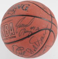 1996-97 Lakers Basketball Team-Signed by (19) with Kobe Bryant, Shaquille O'Neal, Jerry West, Byron Scott (JSA LOA) (See Description) at PristineAuction.com