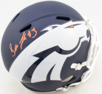 Drew Lock Signed Broncos Full-Size AMP Alternate Speed Helmet (Beckett COA) at PristineAuction.com