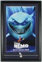 Finding Nemo 15x22 Custom Framed Poster Display with Pixar Pin at PristineAuction.com