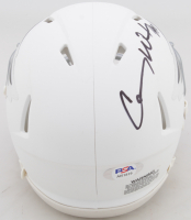 "Carson Wentz Signed Eagles Matte White Speed Mini-Helmet Inscribed ""AO1"" (PSA COA) at PristineAuction.com"