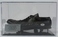 """Nolan Ryan Signed Vintage Baseball Cleat Inscribed """"'69 W.S. Champs"""" with Display Case (PSA COA) at PristineAuction.com"""