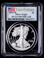 2010-W American Silver Eagle $1 One Dollar Coin (PCGS PR70 Deep Cameo) at PristineAuction.com