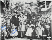 """The Wizard of Oz"" 11x14 Photo Cast-Signed by (4) with Mickey Carroll, Jerry Maren, Donna Stewart Hardaway, & Karl Slover (JSA COA) at PristineAuction.com"