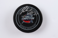 Patrice Bergeron Signed Official 2015 All-Star Skills Competition Hockey Puck (Bergeron COA & YSMS Hologram) at PristineAuction.com