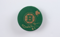 Bobby Orr Signed Bruins St. Patrick's Day Logo Hockey Puck (Orr COA & YSMS Hologram) at PristineAuction.com