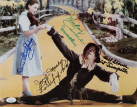 """The Wizard of Oz"" 11x14 Photo Cast-Signed by (4) with Karl Slover, Mickey Carroll, Jerry Maren & Donna Stewart-Hardway with (3) Character Inscriptions (JSA COA) at PristineAuction.com"