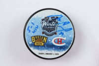 """Mike Condon Signed 2016 Winter Classic Logo Hockey Puck Inscribed """"5-1 Win"""" (Condon COA & YSMS Hologram) at PristineAuction.com"""