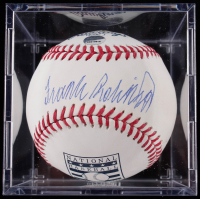 Frank Robinson Signed OML Hall of Fame Logo Baseball with Display Case (Steiner COA & MLB Hologram) at PristineAuction.com